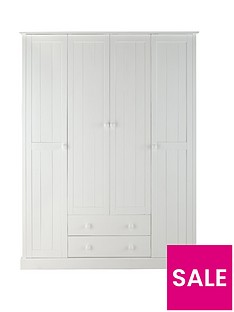 Stockholm 4-Door, 2-Drawer Wardrobe