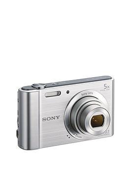Sony Cybershot Dsc W800 20.1 Mp 5X Zoom Digital Compact Camera - Silver