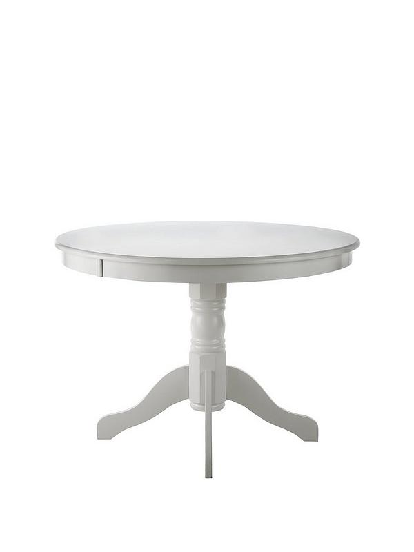Ace 107 Cm Circular Dining Table White Very Co Uk