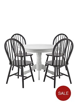 kentucky-white-dining-table-4-black-chairs