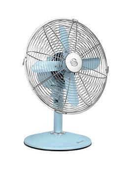 Swan Sfa1010 12 Inch Retro Desk Fan Blue Very Co Uk