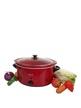 Swan Sf11041B 5.5-Litre Slow Cooker - Red