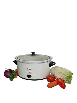 Swan 5.5-Litre Slow Cooker - Cream Best Price, Cheapest Prices
