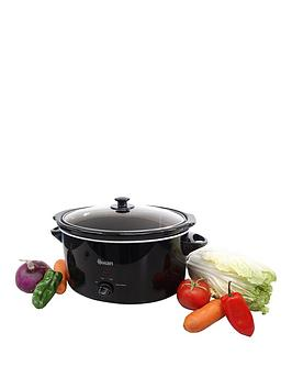 Swan Sf11041 5.5-Litre Slow Cooker - Black Best Price, Cheapest Prices