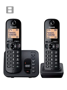 Panasonic TGC-222EB Cordless Telephone with Answering Machine and Nuisance  Call Block - Twin b0626eb1d0