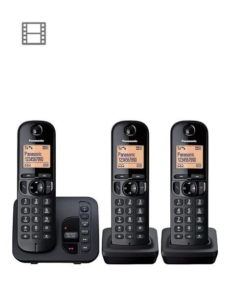 panasonic-kx-tgc223ebnbspcordless-telephone-with-answering-machine-and-nuisance-call-block-trio