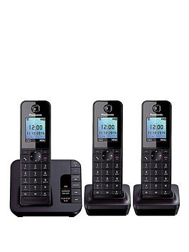 panasonic-kx-tgh223ebnbspcordless-telephone-with-answering-machine-and-nuisance-call-block-trio