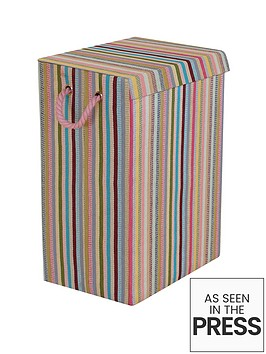 Minky coloured stripe laundry hamper multi - Superhero laundry hamper ...