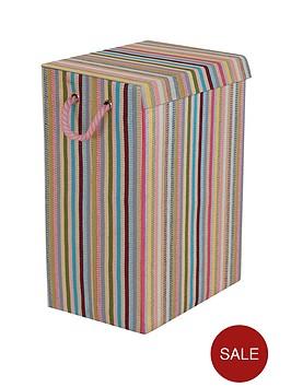 minky-coloured-stripe-laundry-hamper-multi