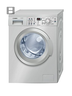 Bosch Serie 6 WAQ2836SGB 8kg Load, 1400 Spin Washing Machine with ActiveWater™ Technology - Silver