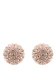 lola-and-grace-rose-gold-sparkle-earrings-with-swarovski-elements