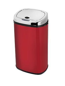 morphy-richards-42-litre-square-sensor-bin-red