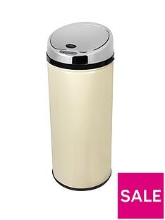 morphy-richards-42-litre-round-sensor-bin-cream