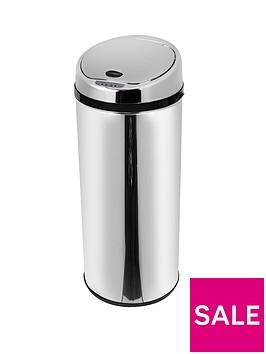 morphy-richards-42-litre-round-sensor-bin-stainless-steel