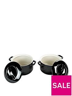 swan-round-casseroles-set-of-2-black