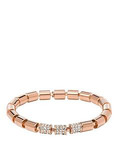 fossil-rose-gold-tone-stretch-beaded-bracelet