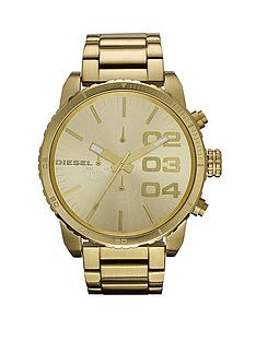 diesel-double-down-chronograph-gold-plated-stainless-steel-bracelet-mens-watch