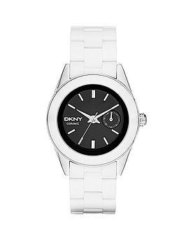 dkny-jitney-black-dial-and-white-ceramic-ladies-watch