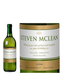 personalised-white-wine