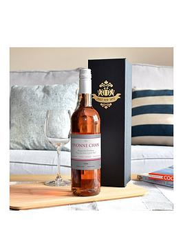 personalised-rose-wine