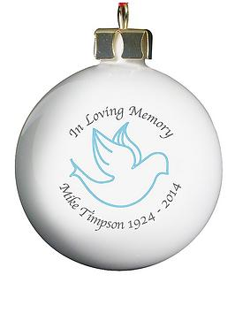 Personalised In Loving Memory Bauble  verycouk