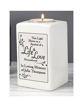 the-personalised-memento-company-personalised-loving-memory-ceramic-tealight-holder
