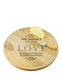 personalised-full-of-love-round-wooden-chopping-board
