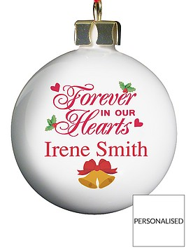 personalised-forever-in-our-hearts-bauble