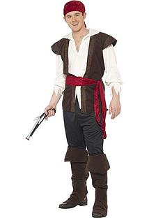 Swashbuckler Pirate Man - Adult Costume  sc 1 st  Very & Mens Fancy Dress | Mens Costumes | Very.co.uk
