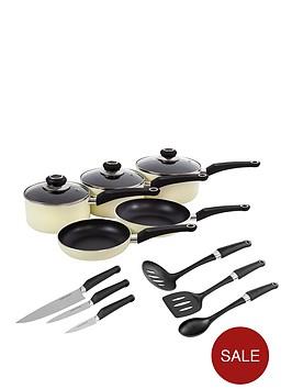 morphy-richards-5-piece-pan-set-with-6-piece-tool-set-cream