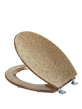 gold sparkle toilet seat. croydex gold glitter toilet seat. view larger sparkle seat t