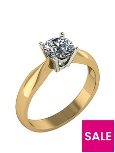 moissanite-9-carat-yellow-gold-75-point-solitaire-ring