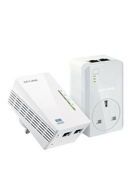 tp-link-av600-powerline-with-pass-through-and-300mbps-wi-fi--white