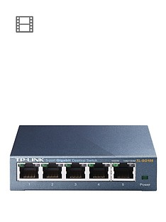 tp-link-desktop-5-port-101001000mbps-switch-with-steel-case-metallic-blue