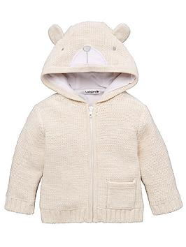 ladybird-baby-unisex-bear-applique-hooded-cardigan