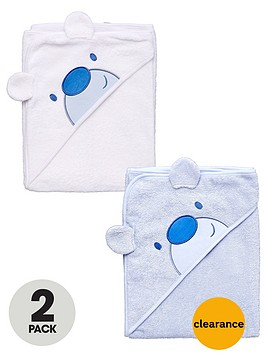 ladybird-baby-boys-bear-applique-hooded-towels-2-pack