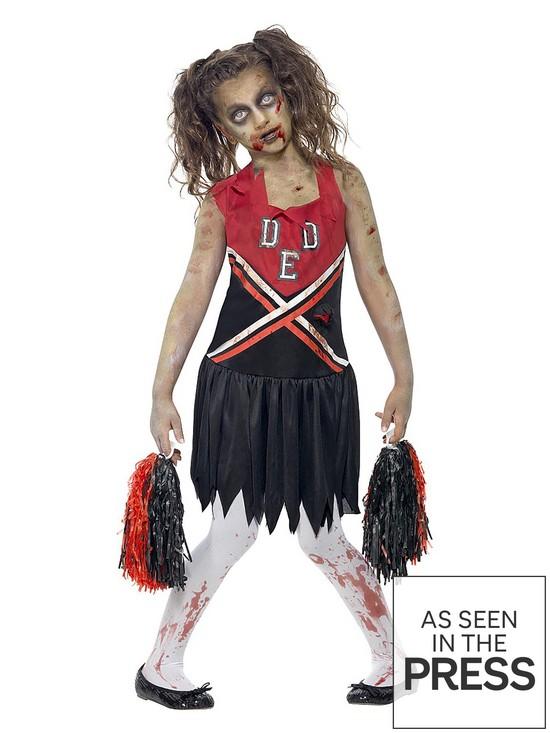 halloween girls zombie cheerleader child fancy dress costume verycouk