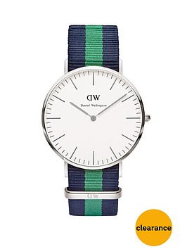 daniel-wellington-silver-tone-40-mm-case-coloured-strap-mens-watch