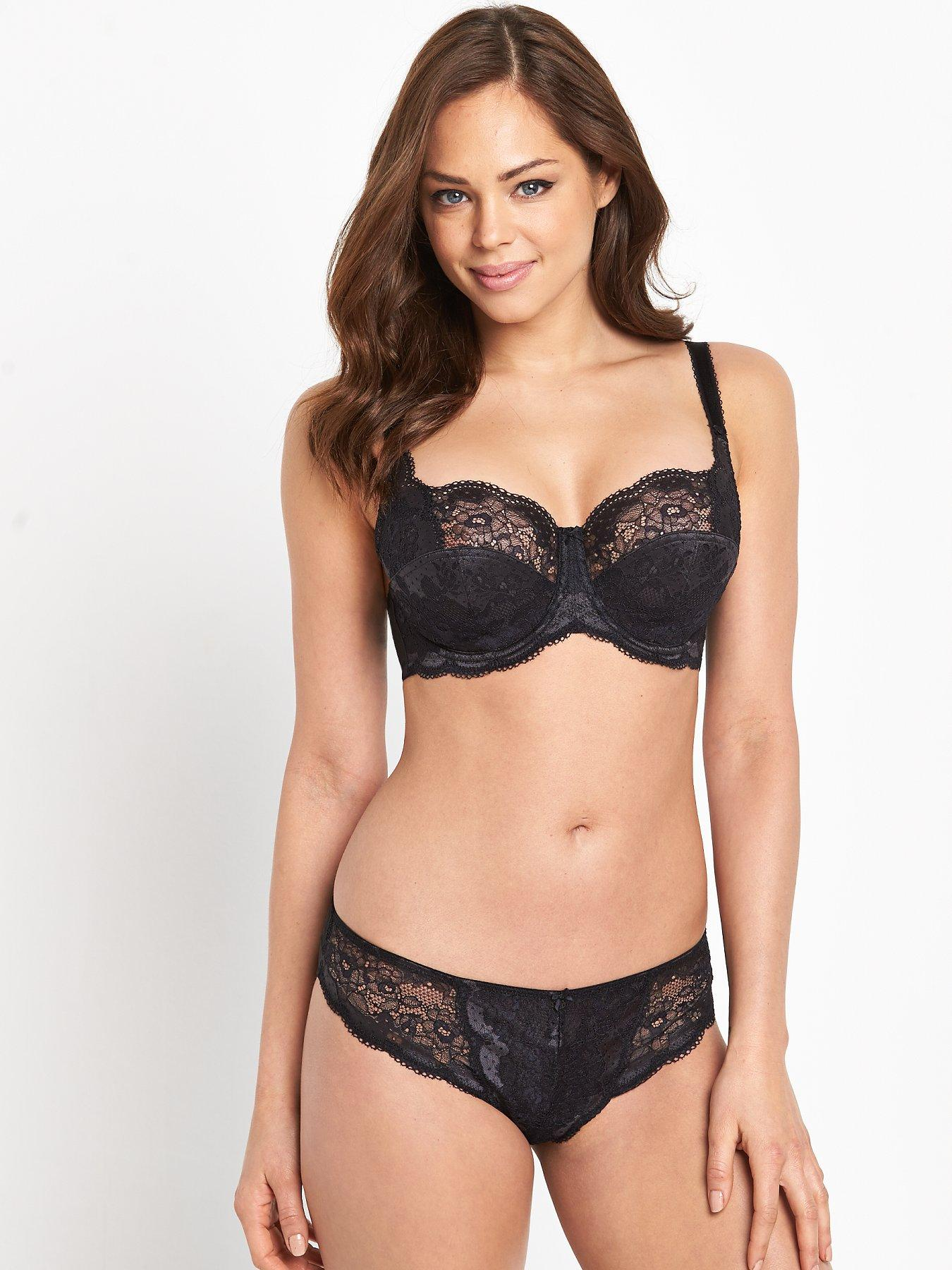 Clever Panache Lingerie Black Brief Knickers ...size 12 Panties