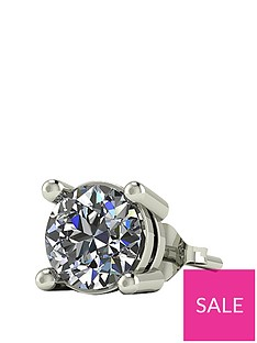 moissanite-9-carat-gold-50pt-solitaire-mens-earring