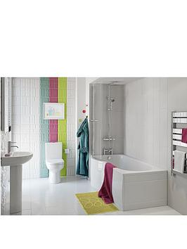 bliss left hand shower bath suite very co uk milano concept 1500 p shape shower bath left hand