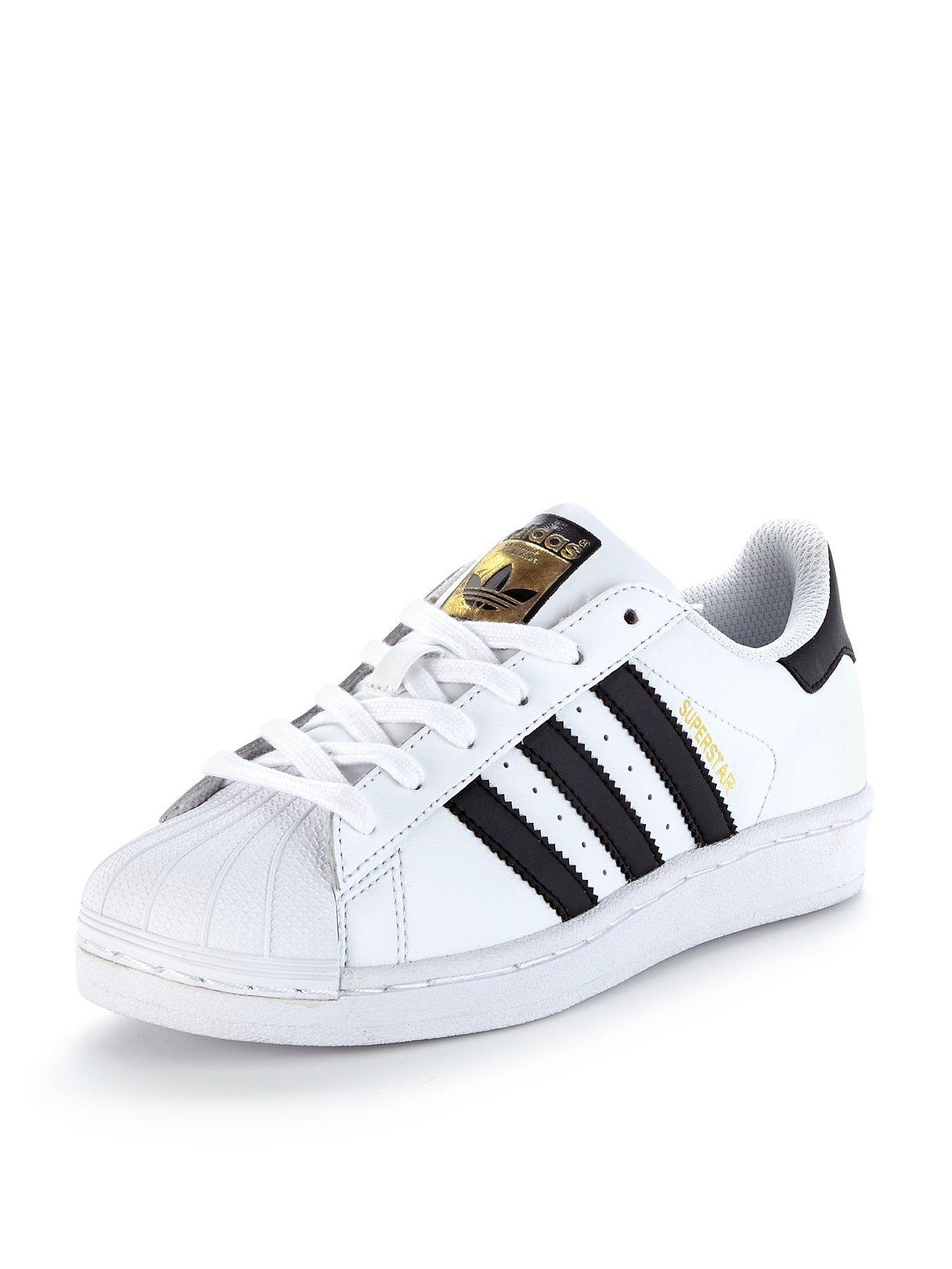 junior adidas superstars black and white
