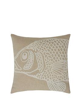 fish-boucle-filled-cushion