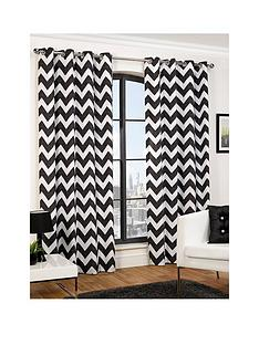 hamilton-mcbride-chevron-printed-lined-eyelet-curtains