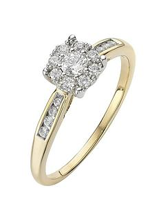 love-diamond-9-carat-yellow-gold-28-point-cluster-ring-with-stone-set-shoulders