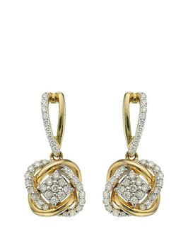 love-diamond-9-carat-yellow-gold-33-point-diamond-infinity-crossover-earrings