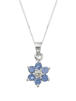 love-gem-9-carat-white-gold-tanzanite-and-diamond-flower-cluster-pendant