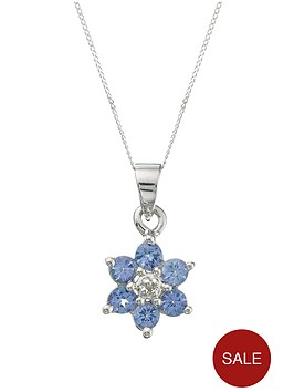 love-gem-9-carat-white-gold-tanzanite-and-diamond-flower-cluster-pendant