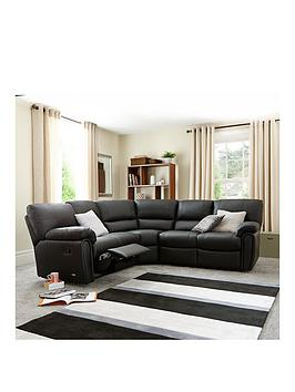 Violino Leighton Leather/Faux Leather Reclining Corner Group Sofa thumbnail