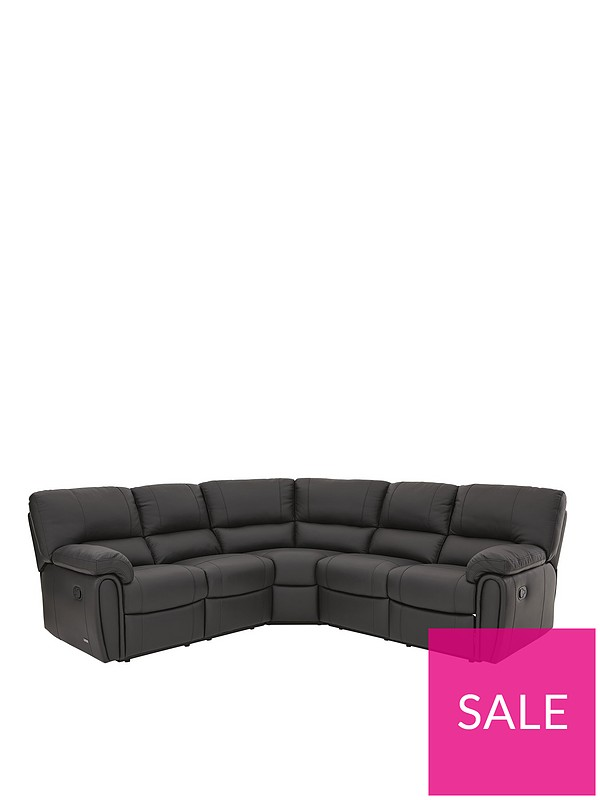 Leighton Leather/Faux Leather Reclining Corner Group Sofa